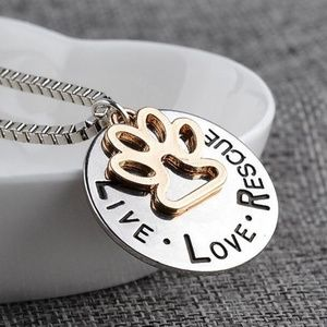 Jewelry - Live, Love, Rescue Necklace